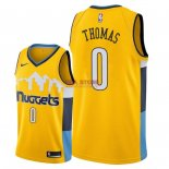 Divise Basket Personalizzate NBA Denver Nuggets NO.0 Isaiah Thomas Giallo Statement 2018