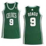 Divise Basket Personalizzate NBA Donna Boston Celtics NO.9 Rajon Rondo Verde