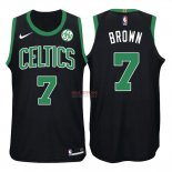 Divise Basket Personalizzate NBA Boston Celtics NO.7 Jaylen Brown Nero 2017/2018