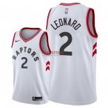 Divise Basket Personalizzate NBA Toronto Raptors NO.2 Kawhi Leonard Bianco Association 2018