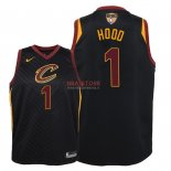 Divise Basket Personalizzate NBA Bambino Cleveland Cavaliers Finale Campioni 2018 NO.1 Rodney Hood Nero Statement Patch