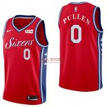 Divise Basket Personalizzate NBA Philadelphia Sixers NO.0 Jacob Pullen Rosso 2017/2018
