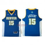 Divise Basket Personalizzate NBA Denver Nuggets NO.15 Carmelo Anthony Retro Blu