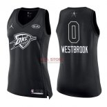 Divise Basket Personalizzate NBA Donna 2018 All Star NO.0 Russell Westbrook Nero