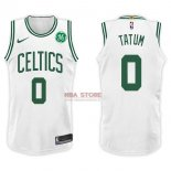 Divise Basket Personalizzate NBA Boston Celtics NO.0 Jayson Tatum Bianco 2017/2018