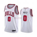 Divise Basket Personalizzate NBA Nike Chicago Bulls NO.0 Coby White Bianco Association 2019-20
