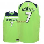 Divise Basket Personalizzate NBA Bambino Minnesota Timberwolves NO.7 James Nunnally Verde Statement 2018