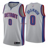 Divise Basket Personalizzate NBA Detroit Pistons NO.0 Andre Drummond Grigio Statement 2018