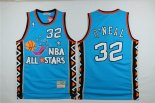 Divise Basket Personalizzate NBA 1996 All Star NO.32 Shaquille O'Neal Blu