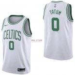 Divise Basket Personalizzate NBA Boston Celtics NO.0 Jayson Tatum Bianco Association 2017/2018