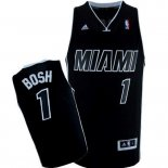 Divise Basket Personalizzate NBA Miami Heat NO.1 Chris Bosh Nero