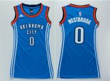 Divise Basket Personalizzate NBA Donna Oklahoma City Thunder NO.0 Russell Westbrook Blu