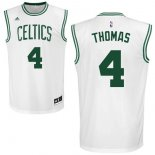 Divise Basket Personalizzate NBA Boston Celtics NO.4 Isaiah Thomas Bianco