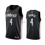Divise Basket Personalizzate NBA Nike Washington Wizards NO.4 Isaiah Thomas Nike Nero Città 2019-20