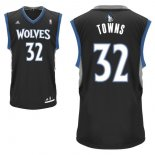 Divise Basket Personalizzate NBA Minnesota Timberwolves NO.32 Karl Anthony Towns Nero