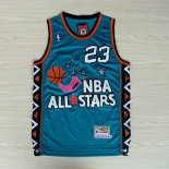 Divise Basket Personalizzate NBA 1996 All Star NO.23 Michael Jordan Blu