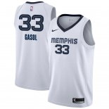 Divise Basket Personalizzate NBA Memphis Grizzlies NO.33 Marc Gasol Bianco Association 2018/2019