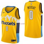 Divise Basket Personalizzate NBA Denver Nuggets NO.0 Emmanuel Mudiay Giallo Statement 2017/2018