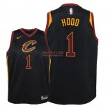 Divise Basket Personalizzate NBA Bambino Cleveland Cavaliers NO.1 Rodney Hood Nero Statement 2018