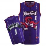 Divise Basket Personalizzate NBA Toronto Raptors NO.1 Tracy McGrady Retro Porpora