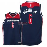 Divise Basket Personalizzate NBA Bambino Washington Wizards NO.6 Troy Brown Jr Marino Statement 2018