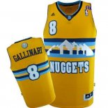 Divise Basket Personalizzate NBA Denver Nuggets NO.8 Danilo Gallinari Giallo