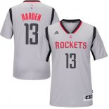 Divise Basket Personalizzate NBA Houston Rockets Manica Corta 13 James Harden Grigio