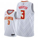 Divise Basket Personalizzate NBA Atlanta Hawks NO.3 Kevin Huerter Bianco Association 2018/2019