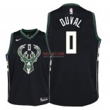 Divise Basket Personalizzate NBA Bambino Milwaukee Bucks NO.0 Trevon Duval Nero Statement 2018/2019