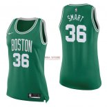 Divise Basket Personalizzate NBA Donna Boston Celtics NO.36 Marcus Smart Verde Icon 2017/2018