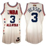 Divise Basket Personalizzate NBA 2003 All Star NO.3 Allen Iverson Bianco