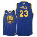 Divise Basket Personalizzate NBA Bambino Golden State Warriors Finale Campioni 2018 NO.23 Draymond Green Blu Icon Patch