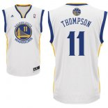 Divise Basket Personalizzate NBA Golden State Warriors NO.11 Klay Thompson Bianco
