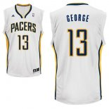 Divise Basket Personalizzate NBA Indiana Pacers NO.13 Paul George Bianco