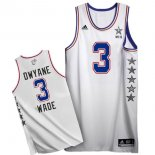 Divise Basket Personalizzate NBA 2015 All Star NO.3 Dwyane Wade Bianco