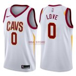 Divise Basket Personalizzate NBA Cleveland Cavaliers NO.0 Kevin Love Bianco Association 2017/2018