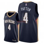 Divise Basket Personalizzate NBA New Orleans Pelicans NO.4 Elfrid Payton Marino Icon 2018