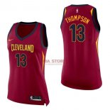 Divise Basket Personalizzate NBA Donna Cleveland Cavaliers NO.13 Tristan Thompson Rosso Icon 2017/2018