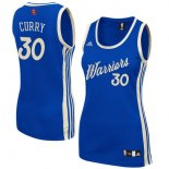 Divise Basket Personalizzate NBA Donna 2015/2016 Natale NO.30 Stephen Curry Blu