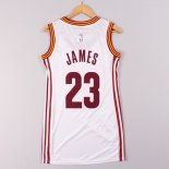 Divise Basket Personalizzate NBA Donna Cleveland Cavaliers NO.23 LeBron James Bianco