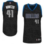 Divise Basket Personalizzate NBA Dallas Mavericks Luce Leopard NO.41 Nowitzki Nero