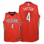 Divise Basket Personalizzate NBA Bambino New Orleans Pelicans NO.4 Elfrid Payton Rosso Statement 2018