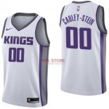 Divise Basket Personalizzate NBA Sacramento Kings NO.0 Willie Cauley Stein Bianco Association 2017/2018