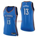 Divise Basket Personalizzate NBA Donna Oklahoma City Thunder NO.13 Paul George Blu Icon 2017/2018