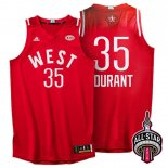 Divise Basket Personalizzate NBA 2016 All Star NO.35 Kevin Durant Rosso