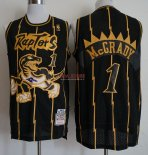 Divise Basket Personalizzate NBA Toronto Raptors NO.1 Tracy McGrady Retro Oro Nero 1998-99