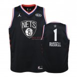 Divise Basket Personalizzate NBA Bambino 2019 All Star NO.1 D'Angelo Russell Nero