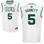 Divise Basket Personalizzate NBA Boston Celtics NO.5 Kevin Garnett Bianco
