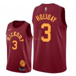Divise Basket Personalizzate NBA Indiana Pacers NO.3 Aaron Holiday Nike Retro Granate 2018/2019