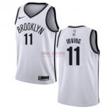 Divise Basket Personalizzate NBA Bambino Brooklyn Nets NO.11 Kyrie Irving Bianco Association 2019-20